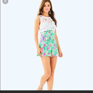 Lilly Pulitzer raz berry catty shack romper